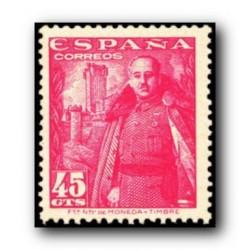 1948 Sellos de España (1028). General Franco y Castillo de la Mota