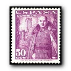 1948 Sellos de España (1029). General Franco y Castillo de la Mota