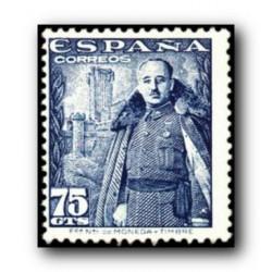 1948 Sellos de España (1030). General Franco y Castillo de la Mota