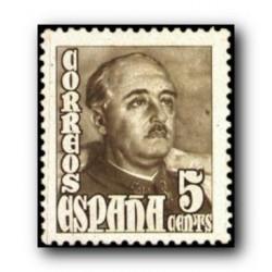 1948 Sellos de España (1020General Franco.