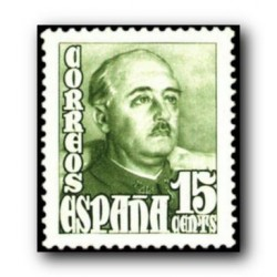 1948 Sellos de España (1021). General Franco.