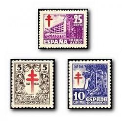 1947 Sellos de España. Pro Tuberculosis. (Edif. 1017/19)**