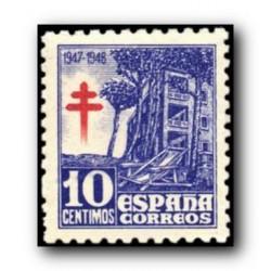 1947 Sellos de España (1018). Pro Tuberculosis.