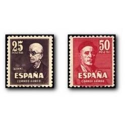 1947 Sellos de España (1015/16). Falla y Zuloaga. **
