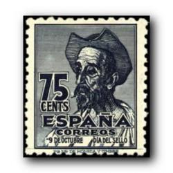 1947 Sellos de España (1012IV Cent. del Nacimiento de Cervantes.