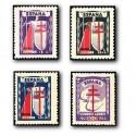 1943 España. Pro Tuberculosis. Edif.970/973 **