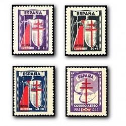 1943 Sellos de España (970/973). Pro Tuberculosis.**