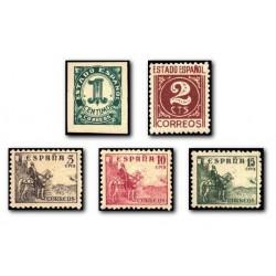 1940 Sellos de España (914/18). Cifras y Cid